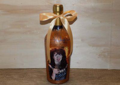 Декорирана бутилка с вградена снимка.