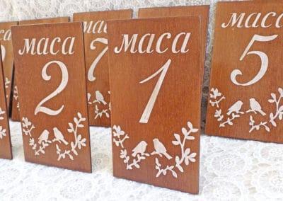 Дървени табелки