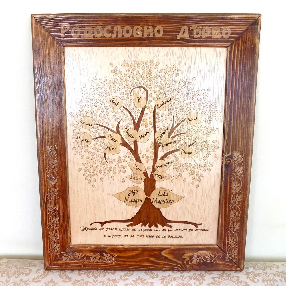 Гравирано дърво